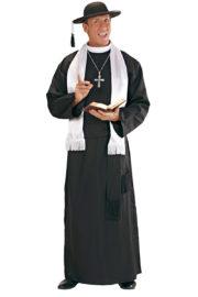 déguisement de curé, costume de curé, déguisement curé homme, costume curé homme, déguisement religieux adulte, costume religieux déguisement Déguisement de Curé, Prêtre Camillo