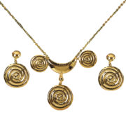 bijoux antiques, faux bijoux antiques, faux bijoux romains, bijoux de déguisements, accessoires de déguisements, accessoires déguisement de romaine Collier + Boucles d'Oreilles Antiques, Roman Lady