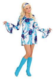 déguisement hippie, déguisement disco, robe disco déguisement, robe hippie déguisement, costume hippie déguisement femme Déguisement Disco Chick, 70s Bleu