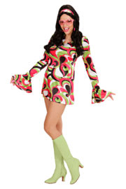 déguisement hippie, déguisement disco, robe disco déguisement, robe hippie déguisement, costume hippie déguisement femme Déguisement Disco Chick, 70s Vert