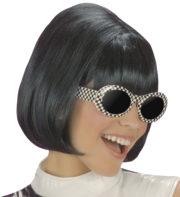 perruque pour femme, perruque brune, perruque noire, acheter perruque femme à paris, perruque de déguisement, perruque pas cher, perruque années 60 Perruque Années 60, Party Girl, Noire