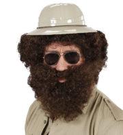 perruque pour homme, perruque pas chère, perruque de déguisement, perruque homme, perruque châtain, perruque avec barbe Perruque + Barbe, Character, Châtain