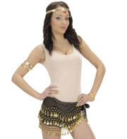 bandeau oriental, ceinture orientale, accessoire déguisement oriental, accessoire oriental déguisement, accessoire danseuse orientale déguisement Bandeau de Taille Oriental, Noir
