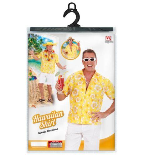 chemise hawaï homme, chemise hawaïenne homme, accessoire hawaï déguisement, soirée hawaï, accessoire déguisement soirée tropicale, colliers hawaïens, déguisement hawaïen homme Chemise Hawaïenne, Jaune
