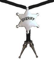 collier cowboy déguisement, accessoire cowboy déguisement, étoile de shérif déguisement, collier cowboy pas cher, accessoires thème cowboy, bijoux de cowboy Collier de Cowboy, Etoile de Shérif