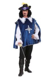 déguisement de mousquetaire, costume mousquetaire homme, tunique mousquetaire adulte, déguisement de mousquetaire Déguisement de Mousquetaire, Bleu