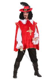 déguisement de mousquetaire, costume mousquetaire homme, tunique mousquetaire adulte, déguisement de mousquetaire Déguisement de Mousquetaire, Rouge