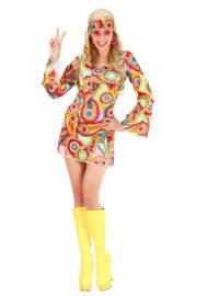 déguisement hippie femme, costume hippie femme, déguisement flower power femme, costume flower power femme, costume années 70 femme, déguisement années 70 femme, déguisement peace and love femme, costume femme hippie Déguisement Hippie Girl, 70s