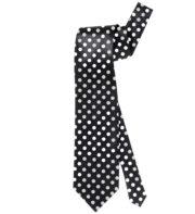 cravate à pois, cravate noire à pois blancs, cravate années 30 Cravate Rétro à Pois