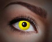 lentilles UV, lentilles jaunes, lentilles halloween, lentilles fantaisie, lentilles déguisement, lentilles déguisement halloween, lentilles de couleur, lentilles fete, lentilles de contact déguisement, lentilles fluos Lentilles Fluos, UV Flash, Jaunes