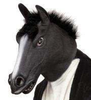 masque de cheval noir, masque de cheval, masques d'animaux Masque de Cheval Noir, Latex