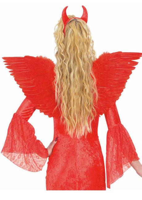 ailes de déguisement, ailes pour se déguiser, ailes d'anges rouges, ailes d'ange rouge, ailes en plumes, ailes rouges,accessoire halloween, ailes de démon, Ailes d'Ange en Plumes, Rouges
