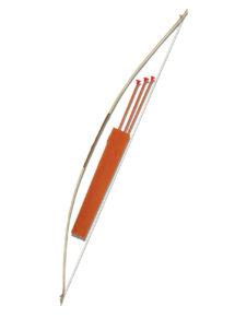 arc de déguisement, faux arc, arc avec flèches, arc de robin des bois, arc en plastique, arc déguisement, Arc et Flèches avec Sac Suédine, 152 cm