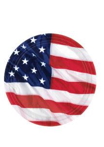 assiettes en carton, vaisselle jetable, vaisselle pour anniversaire, assiettes états unis, Vaisselle Etats Unis, Assiettes Drapeau Américain GM