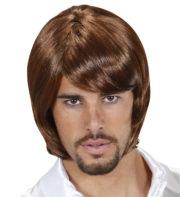 perruque homme, perruque châtain , perruque années 70, perruque disco Perruque 70's Pop Star Legend, Châtain Clair