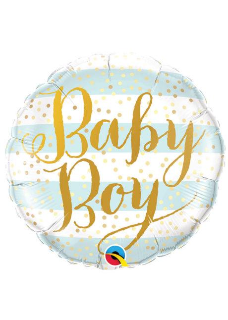 ballon baby shower garçon, ballon hélium, ballon à l'hélium, ballon naissance garçon, décorations baby shower garçon, Ballon Baby Shower, Baby Boy Gold, en Aluminium