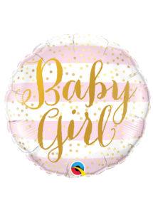 ballon baby shower fille, ballon hélium, ballon à l'hélium, ballon naissance fille, décorations baby shower fille, Ballon Baby Shower, Baby Girl Gold, en Aluminium
