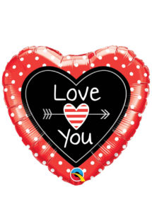 ballon coeur, ballon hélium, ballon saint Valentin, ballon mylar, ballon à l'hélium, ballons coeurs, ballon coeur rouge, ballon i love you, Ballon Coeur, Love You, en Aluminium