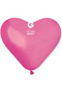 ballon coeur, ballon hélium, ballon baudruche, ballon latex, ballons coeurs, Ballon Coeur Rose Fuchsia, en Latex, X 1 ou X 50