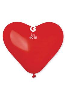 ballon coeur, ballon hélium, ballon baudruche, ballon latex, ballons coeurs, Ballon Coeur Rouge, en Latex, X 1 ou X 50