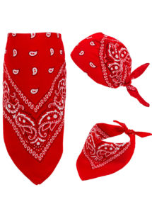 bandana cowboy, bandana de cowboy, foulard de cowboy, accessoires cowboys, soirée western, bandana rouge, Bandana, Rouge