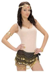 bandeau oriental, ceinture orientale, accessoire déguisement oriental, accessoire oriental déguisement, accessoire danseuse orientale déguisement, Bandeau de Taille Oriental, Noir