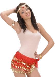 bandeau oriental, ceinture orientale, accessoire déguisement oriental, accessoire oriental déguisement, accessoire danseuse orientale déguisement, Bandeau de Taille Oriental, Rouge