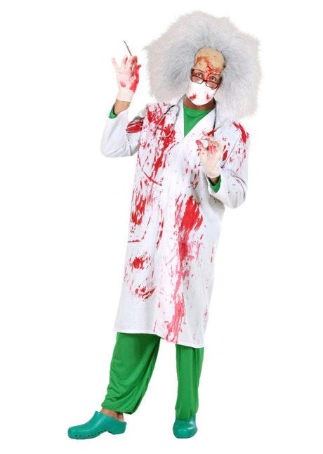 blouse ensanglantée, accessoire halloween déguisement, accessoire déguisement halloween, blouse faux sang halloween, Blouse Blanche Ensanglantée