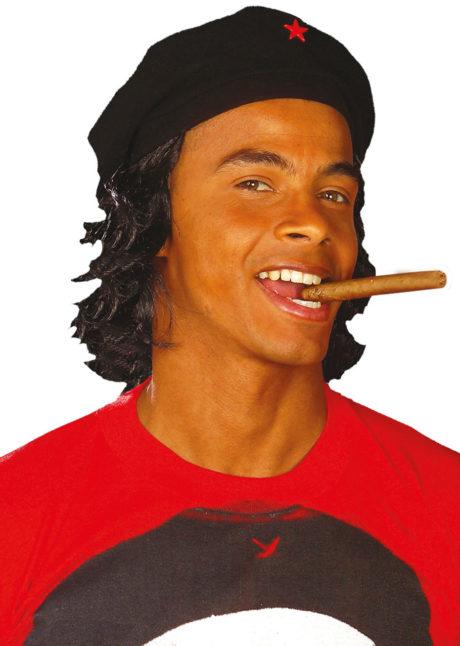 chapeau Che Guevara, accessoire déguisement che guevara, soirée cubaine, accessoire déguisement cubain, Béret de Che Guevara