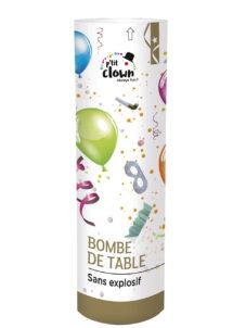 bombe de table, bombe de cotillons, cotillons bombe de table, Bombe de Table Cotillons, à Goupille