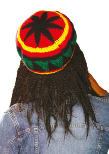 bonnet rasta, accessoires déguisements rasta, bonnet rasta dreadlocks, Bonnet Rasta