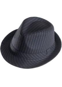chapeau borsalino, chapeaux borsalino, chapeaux années 30, chapeaux gangster années 20, chapeaux paris, chapeaux charleston, chapeaux des années 30, accessoire déguisement prohibition, Chapeau Borsalino, Noir Rayures Blanches