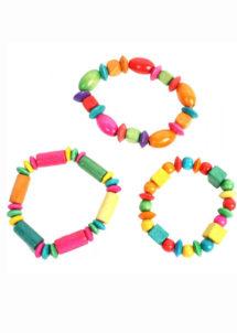 bracelet fille, bracelets enfant, bracelet en bois fille, cadeaux pour pinatas, jouets pour pinata, cadeaux à pinata, Bracelet Perles en Bois