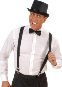 bretelles déguisement, bretelles homme, bretelles femmes, bretelles cabaret, bretelles années 30, bretelles noires, Bretelles Noires, Elastiques, Réglables