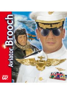 broche d'aviateur, accessoire pilote, accessoires de déguisement, insigne de pilote, accessoires déguisements pas cher, accessoire aviateur déguisement, Broche d'Aviateur