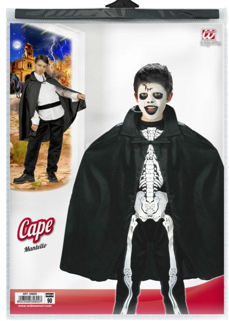 cape noire enfant, cape halloween enfant, cape pour enfant, cape magicien enfant, Cape Noire, 90 cm, Enfant