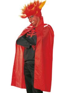 cape rouge halloween, cape de diable halloween, cape rouge adulte, Cape Rouge, 115 cm