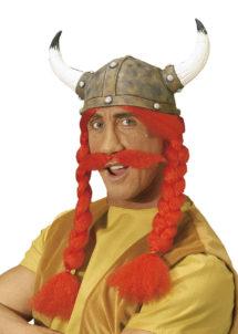 casque obelix, casque et perruque obelix, accessoire déguisement asterix et obelix, accessoire déguisement gaulois, romains et gaulois, Casque de Gaulois, Nattes et Moustache