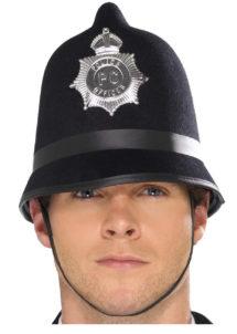 casque police anglaise, accessoires policier, accessoire déguisement anglais, casque de bobby anglais, Casque de Policier Anglais