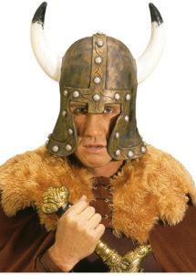 coiffe de viking, casque de viking, accessoire déguisement viking, casque à cornes, casque en latex, Casque de Viking Barbare, Bronze