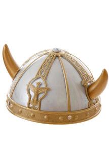casque viking, casques de viking, chapeaux de vikings, casques à cornes, coiffes de viking, accessoire déguisement viking, Casque de Viking, Argent et Or