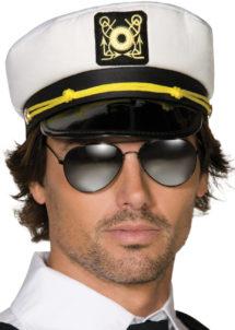 casquette capitaine, chapeau de capitaine de la marine, accessoire déguisement capitaine, casquette de marin, casquettes marins, Casquette de Capitaine avec Ecusson