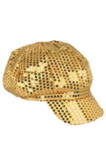 casquette disco sequins, casquette disco à paillettes, casquette disco dorée, Casquette Disco, Sequins Or