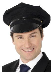 casquette de chauffeur, casquettes métiers, casquettes paris, Casquette de Chauffeur, en Tissu Noir