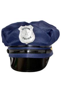 casquette de police, casquette police, Casquette de Police, Bleue