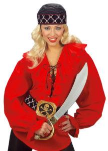 ceinture de pirate, ceinture de déguisement, ceinture déguisement, ceinture large déguisement, ceinture noire déguisement, ceinture pirate, accessoires déguisements, accessoire pirates, Ceinture de Pirate, Tête de Mort