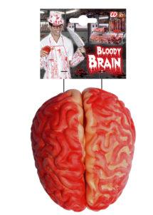déco halloween, accessoire décoration halloween, faux cerveau, accessoire halloween déguisement, accessoire zombie déguisement, faux cerveau en latex, Faux Cerveau Sanglant