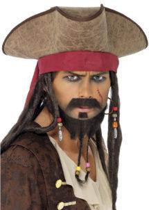 chapeaux de pirates, chapeau pirate, accessoire déguisement pirate, chapeaux pirate des caraïbes, Chapeau de Pirate Dread