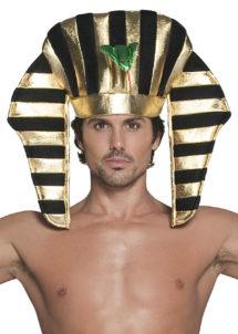 coiffe de pharaon, chapeau de pharaon, accessoire déguisement pharaon, coiffe égyptienne paris, Chapeau de Pharaon