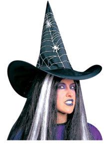 chapeau de sorcière, chapeaux de sorcières, chapeaux halloween, accessoires déguisements de sorcière, Chapeau de Sorcière Spider